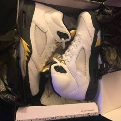 Air jordan 5 retro gold toungue