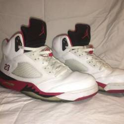 Air jordan 5 - fire red (black...