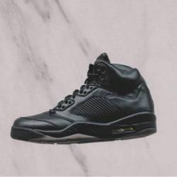 Air jordan 5 premium black bla...
