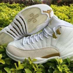 Nike air jordan 12 ovo white &...