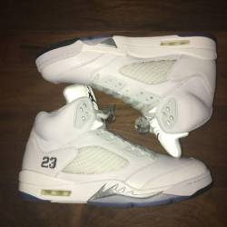 Nike air jordan v white metallic