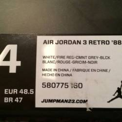 Air jordan 3 retro 88 - white ...
