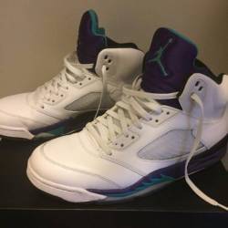Air jordan retro 5 white grape...