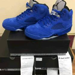 Air jordan 5 blue suede (grade...
