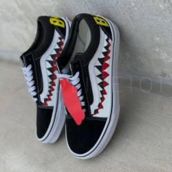 Vans bape shark custom