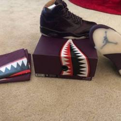 Retro air jordan 5 wine premium