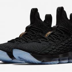 Nike lebron 15 black metallic ...