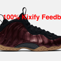 Nike air foamposite one maroon