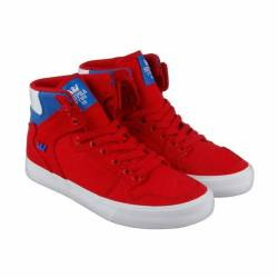 Supra vaider d mens red canvas...