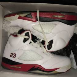 Jordan fire red 5 retros
