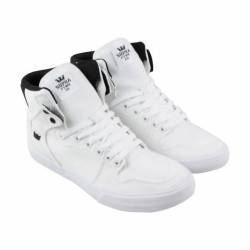 Supra vaider mens white canvas...