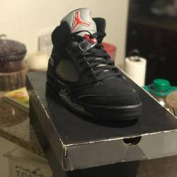 Air jordan 5 black metallic 2007