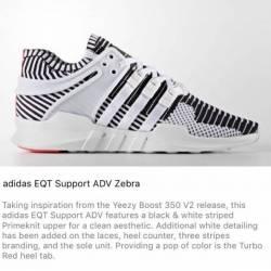 Adidas eqt support adv zebra