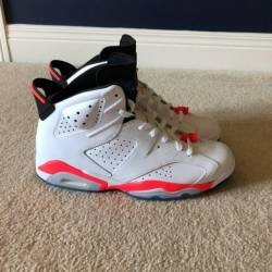 Jordan 6 white infrared size 10.5