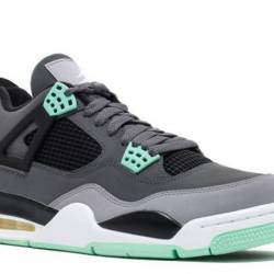 Air jordan 4 retro green glow ...