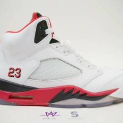 Air jordan 5 retro fire red bl...