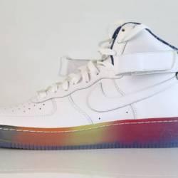 Nike id air force 1 high white...