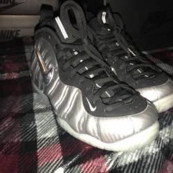 Nike air foamposite pro silver...