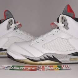 Nike air jordan 5 retro white ...