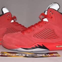 Nike air jordan 5 retro red su...