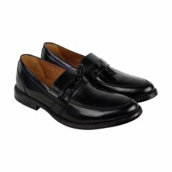 Clarks kinnon step mens black ...