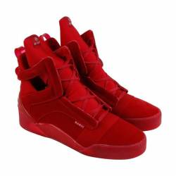 Radii prism mens red suede hig...