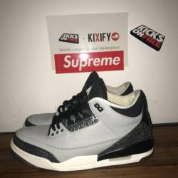 Air jordan 3 - wolf grey size ...
