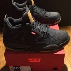 Air jordan 4 levi's black denim
