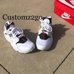 Custom nike huaraches white gucci