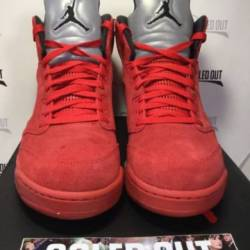 Air jordan 5 retro red suede 2...