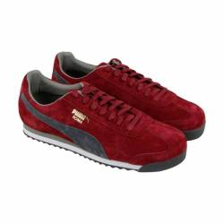 Puma roma mens red suede lace ...