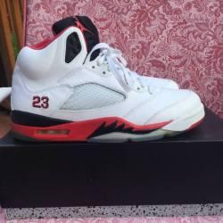 "Jordan 5 ""fire red"""