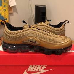 Air vapormax 97 metallic gold ...