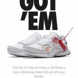 The ten: nike off-white presto