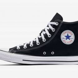 Converse high top black and wh...