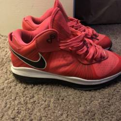Solar red lebron 8s size 7.5