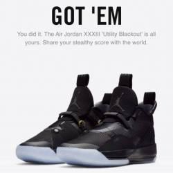 Jordan xxxiii blackout utility...