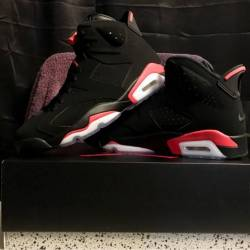 Jordan retro black infrared 6s...