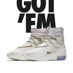 Nike fear of god 1 light bone ...