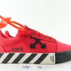 Off white vulc low top red