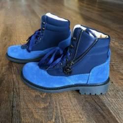 New versace navy blue suede bo...