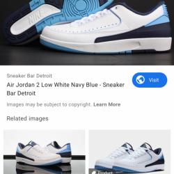 Jordan 2 navy lows