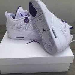 Air jordan 4 metallic purple s...