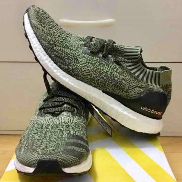 030cade34ad Adidas Ultra Boost Uncaged PK Green Olive Black BB3901 M8US