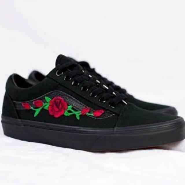 Sale OFF-65%|black vans roses
