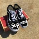 "Supreme Vans Black White Old Skool Shoes ""MENS"""