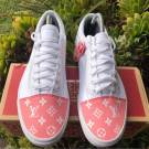 "Vans x ""Pink Louis Vuitton"" Toe Box Customs"