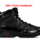 Air Jordan 9 Bred black red