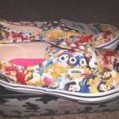 Vans x Disney Multi Princess Youth Womens Shoes Belle/Cinderella/Ariel Print NEW