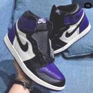 "Air Jordan 1 Retro Hi OG ""court purple"" New 555088-501 10-12"